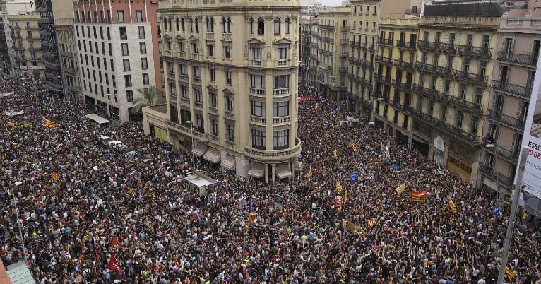 The Catalans were butchered by police forces in protest to their independence vote.