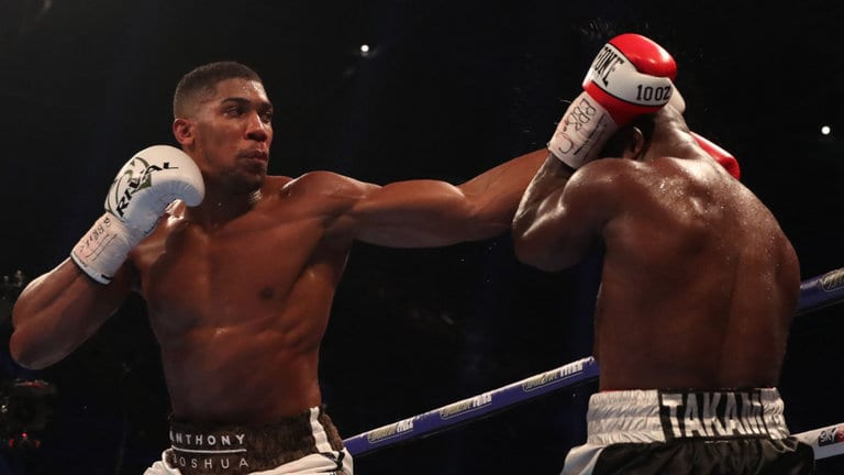 The unbeaten 28-year-old Anthony Joshua faces Cameroonian Takam in Cardiff.