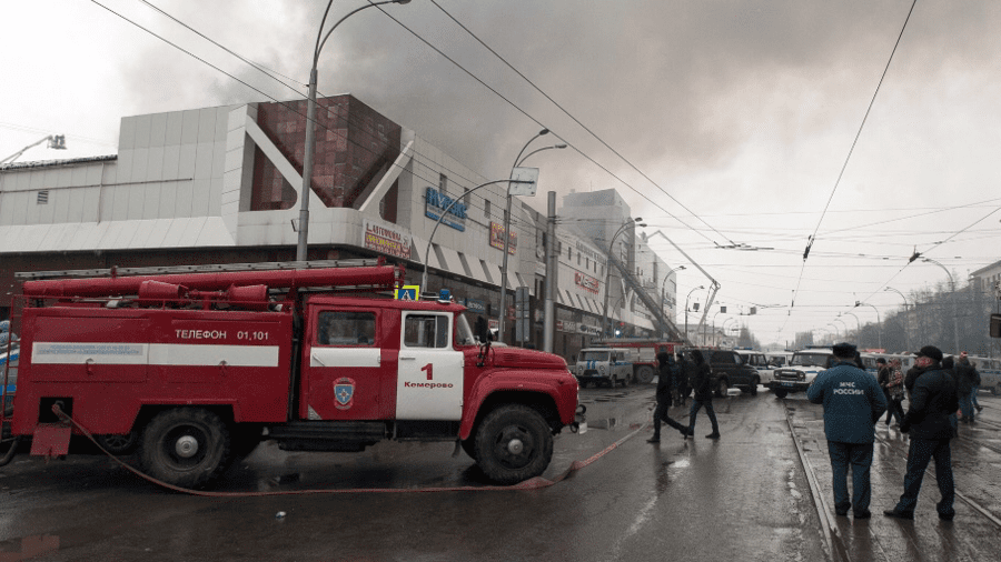 At least 64 people have died in a shopping centre in the Siberian city of Kemerovo