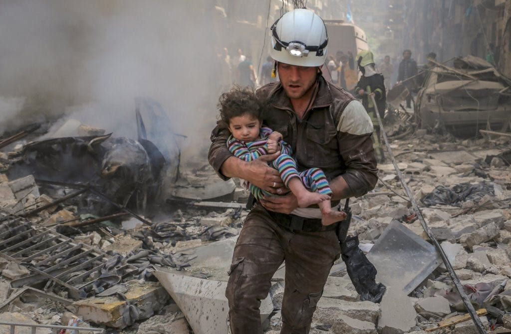 Images of the heroic White Helmets, officially known as Syria Civil Defence