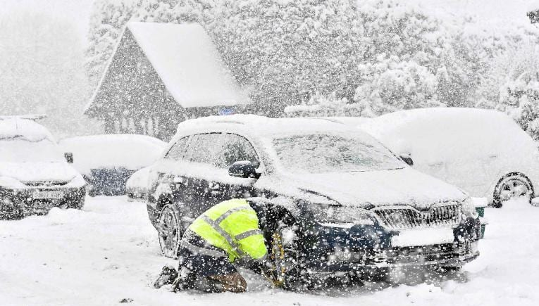"Icey temperatures persist across the country. A blast of Siberian weather dubbed ""The Beast from the East"" sent temperatures plunging across much of the country down to -12"