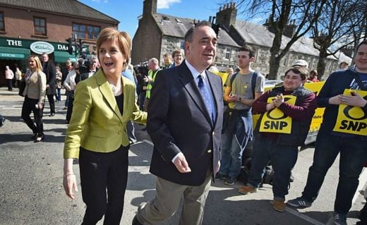 """The current SNP leader Ms Sturgeon said she """"felt a huge sadness about the whole situation""""."""