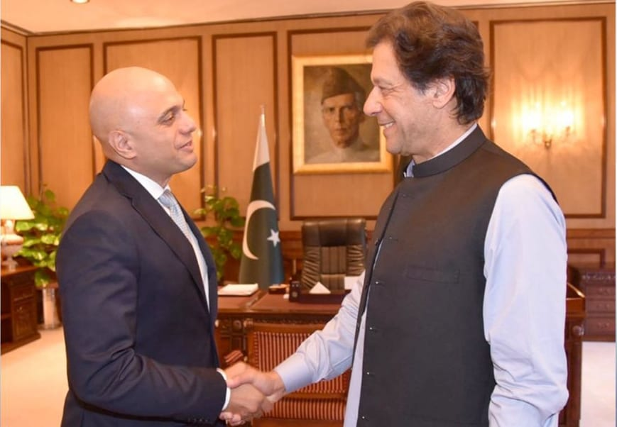 Sajid Javid meets Pakistani PM Imran Khan as anti-terror and illicit finance corruption pact announced