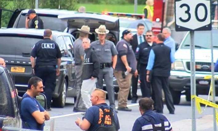 the incident, which took place near a store and cafe on routes 30 and 30A in Schoharie County.