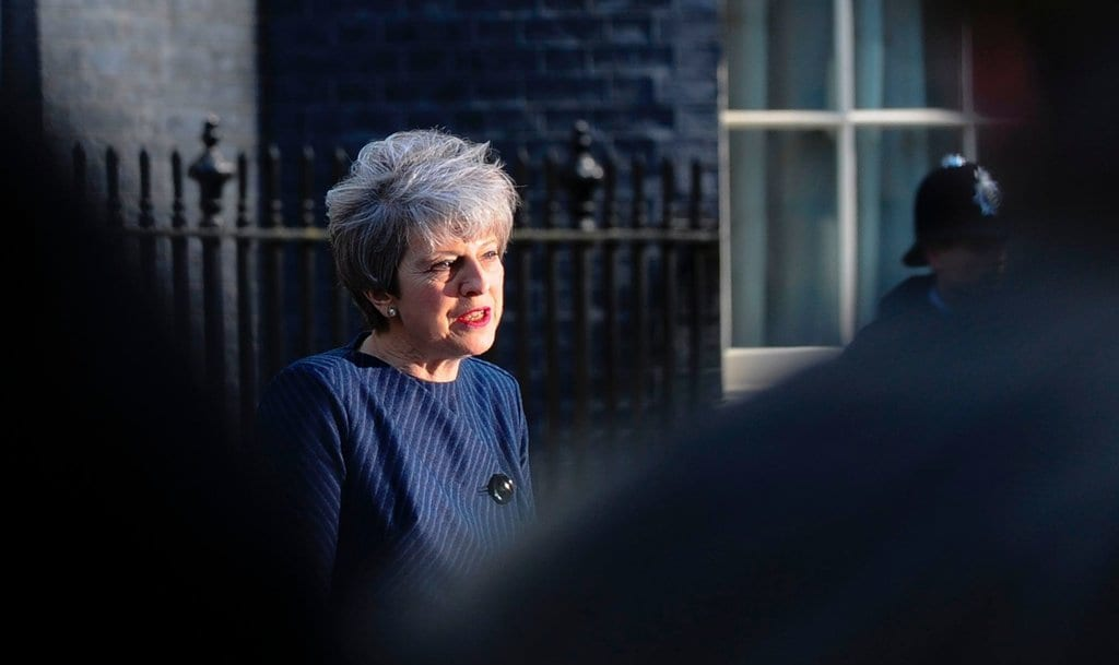 Prime Minister Theresa May outside 10 Downing street