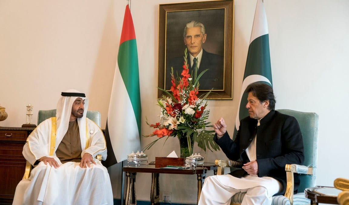 ISLAMABAD, PAKISTAN - January 06, 2019: HH Sheikh Mohamed bin Zayed Al Nahyan, Crown Prince of Abu Dhabi