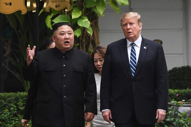 Donald Trump and Kim meet again