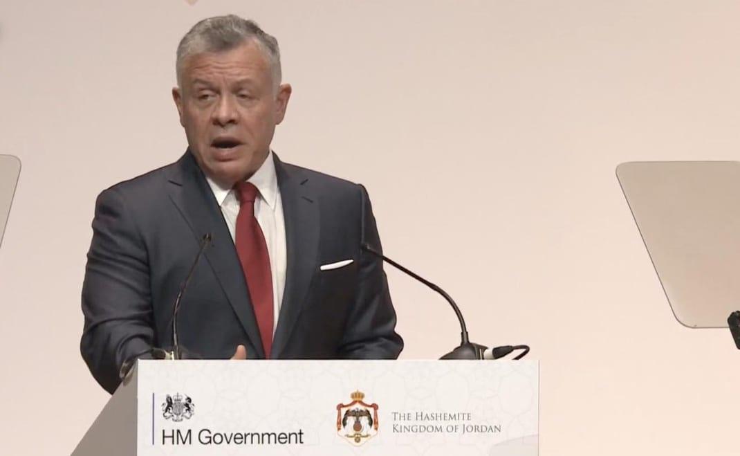 King Abdullah of Jordan at the conference in London