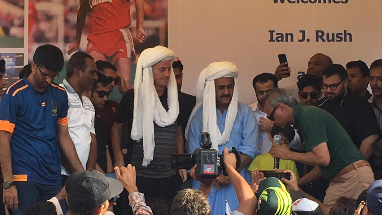 Ian Rush in Karachi Pakistan