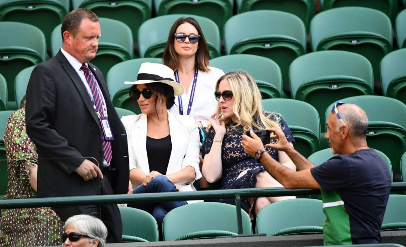 Really Meghan? Sitting in the Royal Box at Wimbledon in front of the world's TV crews cannot be deemed private.