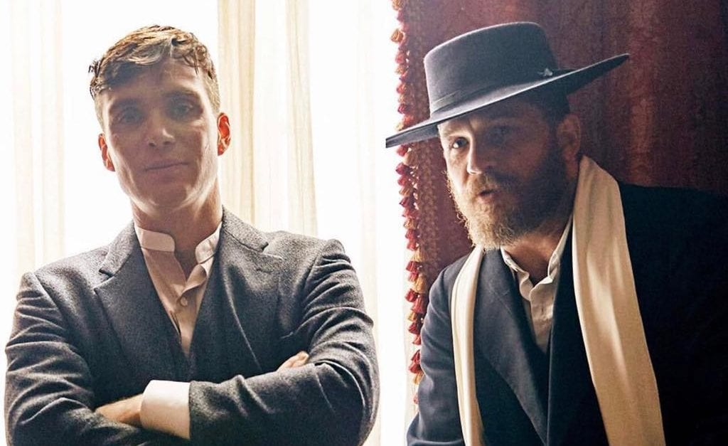 Cillian Murphy and Tom Hardy in the Peaky Blinders