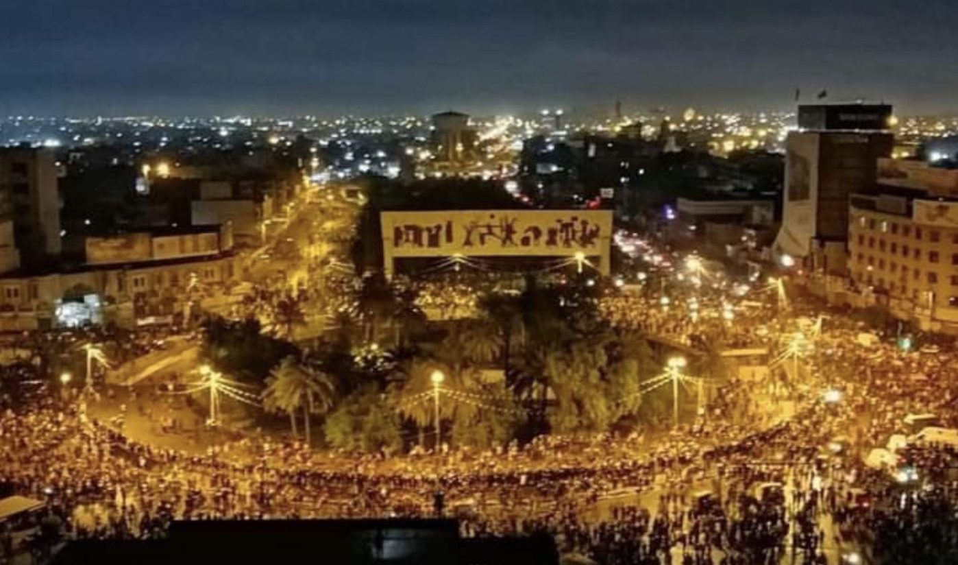 Iraqi protesters pack Baghdad's Tahrir Square