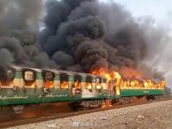 Pakistan train fire: At least 46 dead after cooking accident sparks blaze