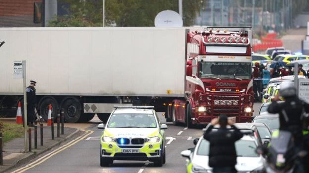Essex lorry deaths: Police continue to question lorry driver