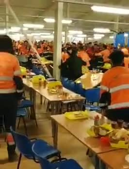#Breaking News: #Brexit madness - As English workers clash with Eastern European's at #CrossRail HQ - Exclusive Video footage!