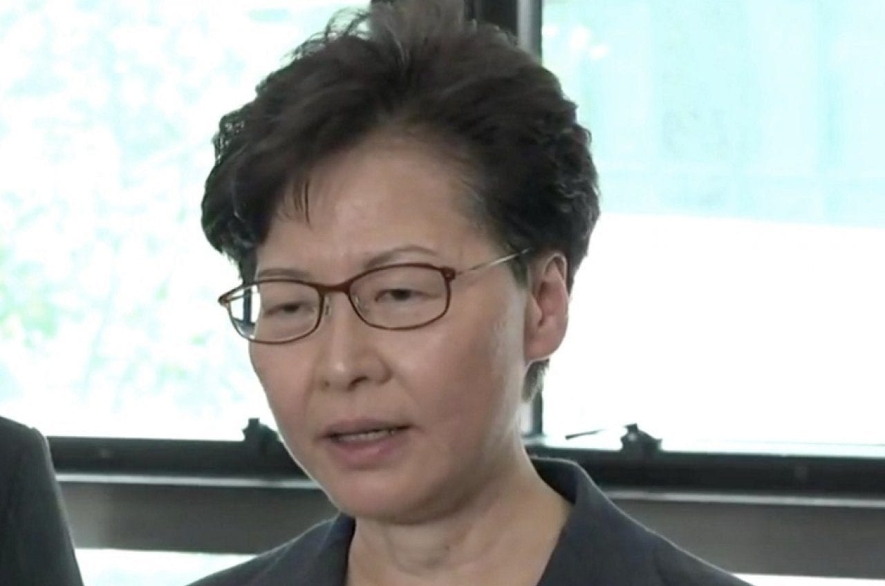 Hong Kong leader vows to 'listen humbly' after shock poll results