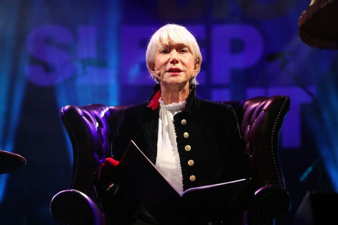 Dame Helen trats fundraisers to a bedtime story