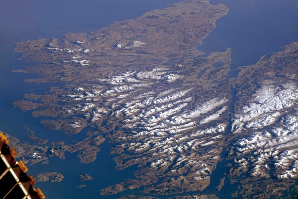 The Scottish Highlands from Space - Monday Motivation from the International Space Station