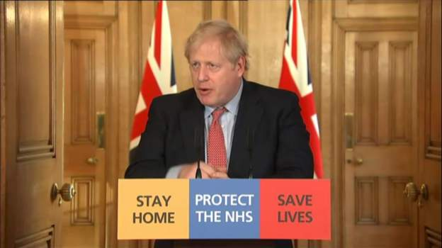 UK PM Boris Johnson is giving the latest briefing on the coronavirus outbreak