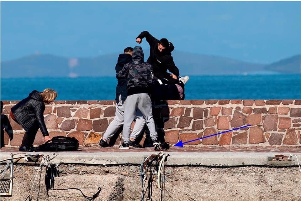 lesbos island aid workers attacked