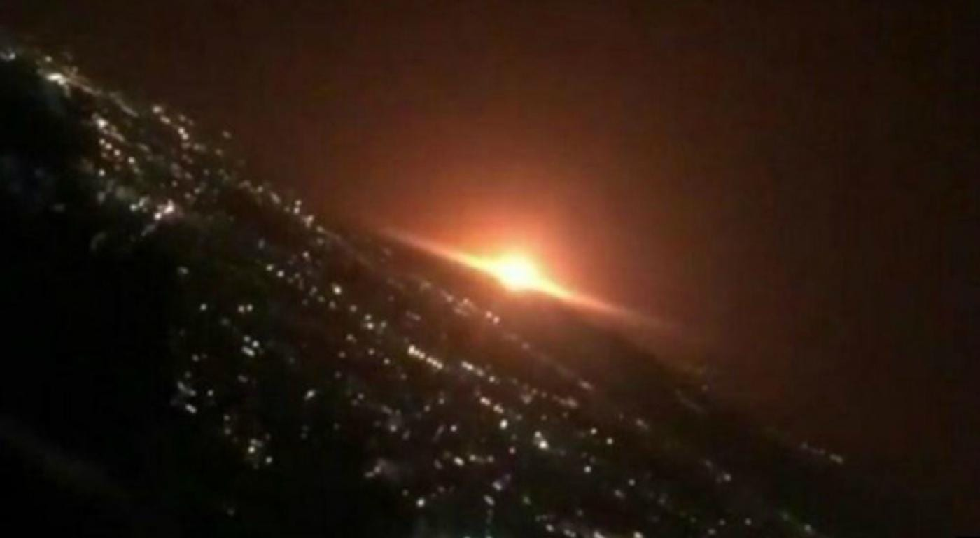 An explosion in Iran that rattled Iran's capital came from an area analysts believe hides an underground missile production site
