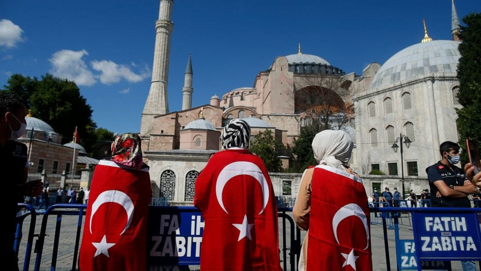 Turkey's iconic Hagia Sophia leads the first Friday prayers since the 1930s