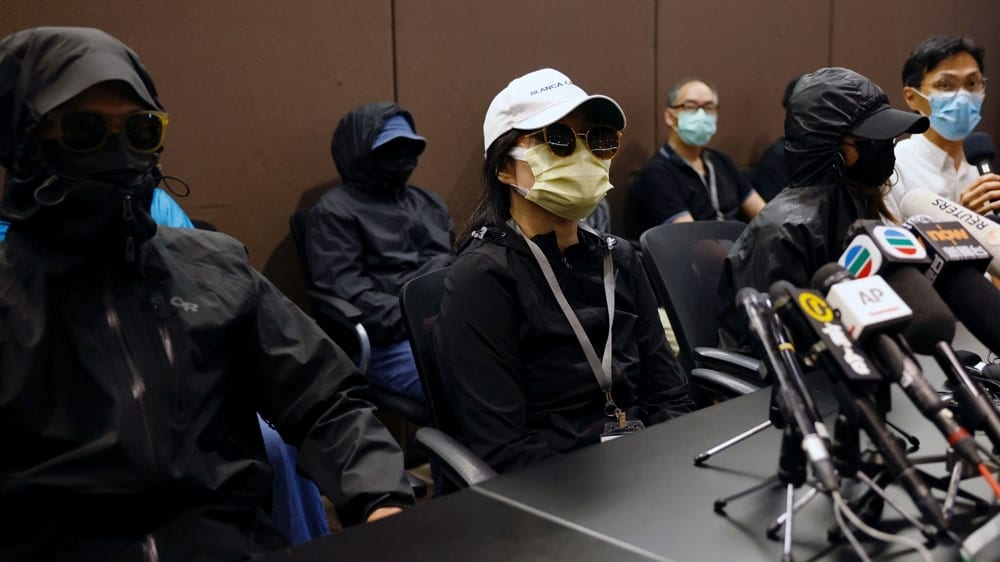 Hong Kong will 'not interfere' in China dentention of 12