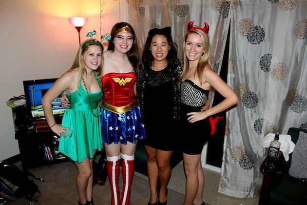 Americans dress up for Halloween