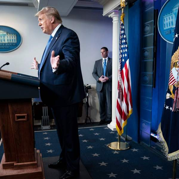 Trump falsely claims Covid-19 cases down