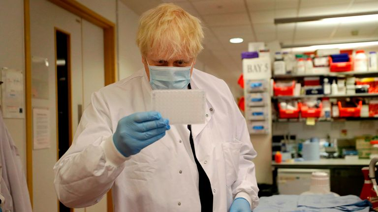 Boris Johnson suggests 'vast majority' of vulnerable people could get COVID vaccine by Easter