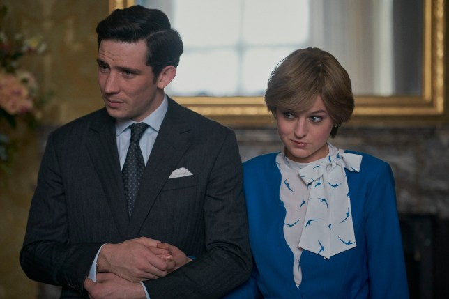 The Crown's Diana and Charles