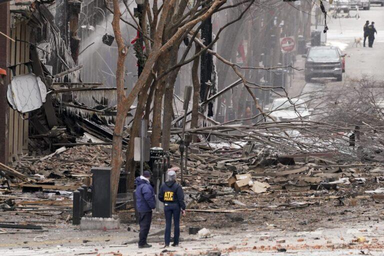 Authorities say suspect in Nashville blast died at scene