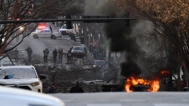Breaking News: Huge Explosion downtown Nashville - Caused by Car loaded with explosive devices
