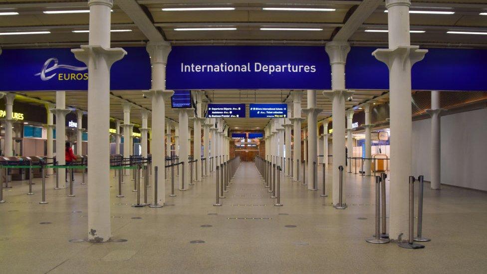 UK flight and train ban