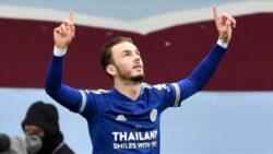 James Maddison celebrating his goal against Aston Villa during Sunday's Premier League results