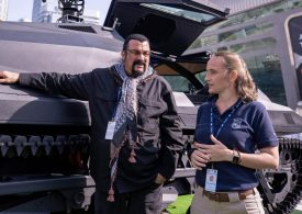 Hollywood star Steven Seagal on guns, armoured vehicles and making more films