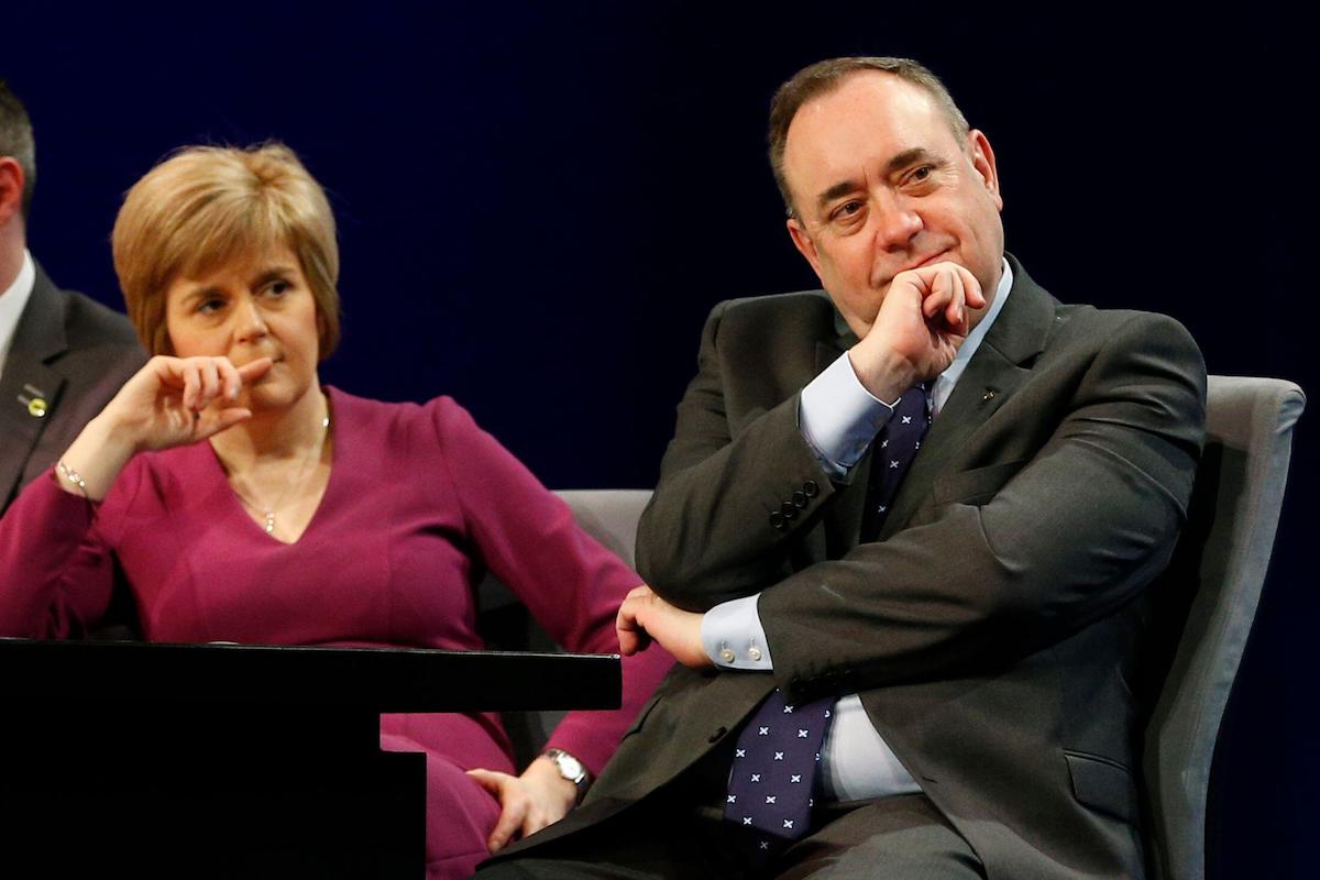 As the suffragettes used to say: Deeds not words. - Alex Salmond (R) and Deputy Nicola Sturgeon