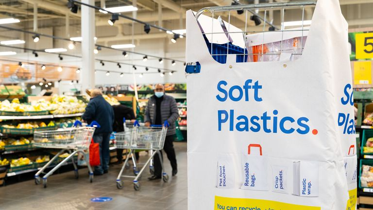 Tesco begins roll out of 'soft plastic' recycling points for customers to return old packaging
