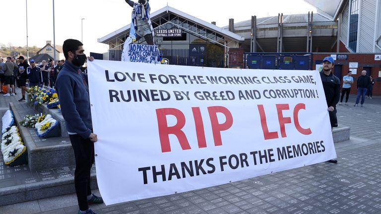 Leeds vs Liverpool 1-1 - European Super League (ESL) overshadows game