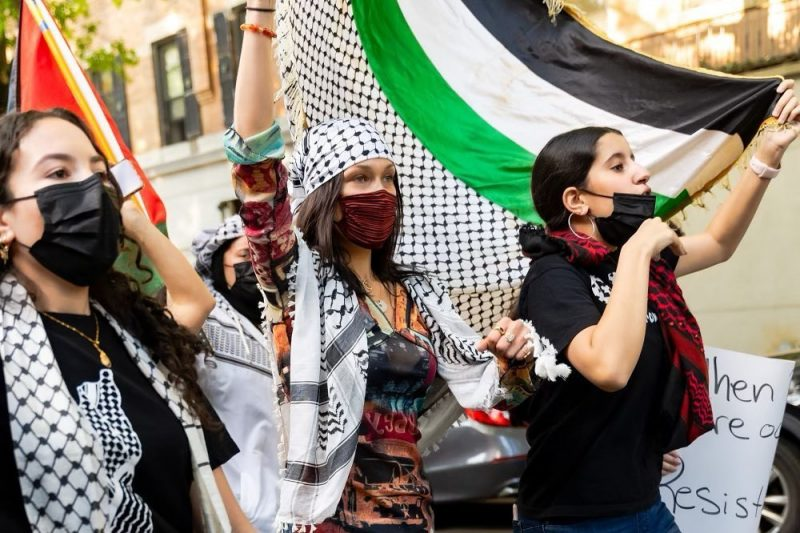 Bella Hadid marches to Free Palestine, after tearful plea