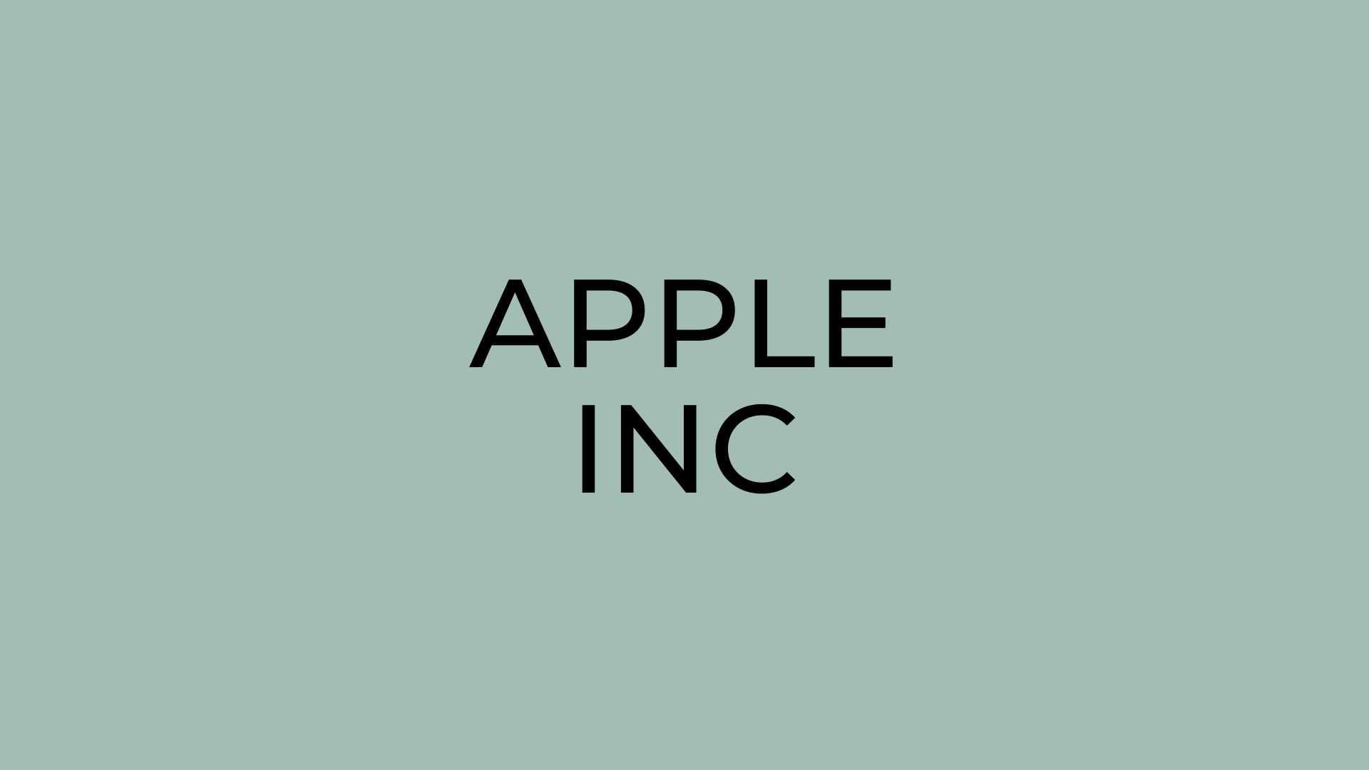 Apple Inc Apple stock price today