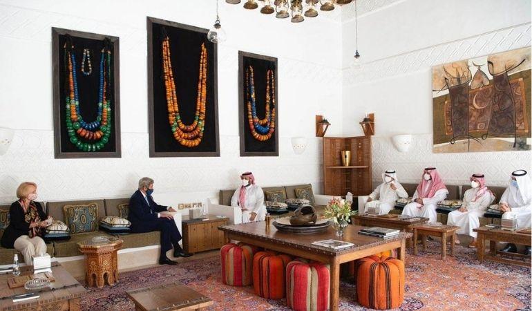 Saudi Crown prince meets US Climate Envoy John Kerry
