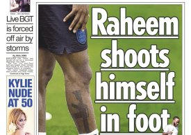 Raheem Sterling sparks fury by unveiling M16 assault rifle tattoo