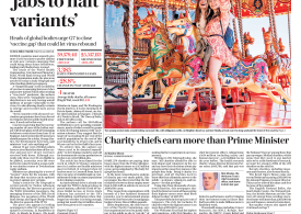 The Daily Telegraph - 'Give poor countries more vaccines to halt Covid-19 variants'
