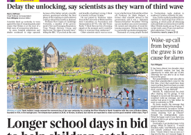 The Times - School day extended by 30mins to help kids catch up