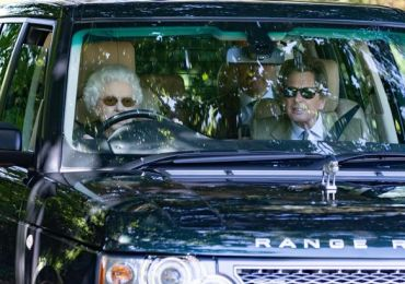 Queen spotted driving around Sandringham estate for first time since Philip's death