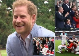 Prince Harry and William texting over England-Germany Win