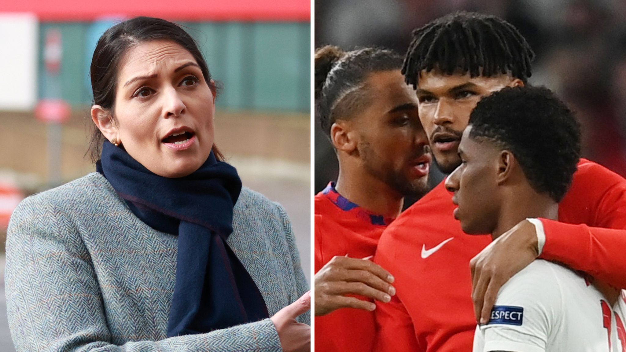 Priti Patel is the news again for political tokenism and point scoring as she was called out on twitter by Tyrone Mings for her comments on taking the knee and racism in football