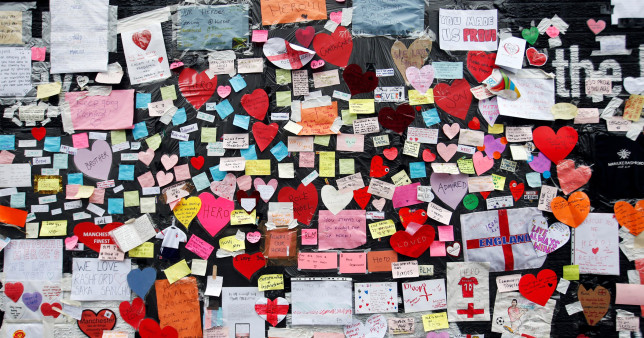 Hundreds of touching messages of support left on the mural of Marcus Rashford