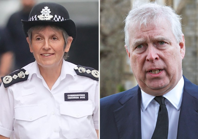Prince Andrew 'not above the law', says Met police – having 'another look at the material'